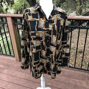 Vintage 80s or 90s Blouse Large
